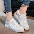 Женщины Повседневная Обувь Марка Лето Скейт Обувь Белый Классические Кроссовки, Босоножки, Корзина Femme Chaussure Femme Плоские Туфли Нет логотип