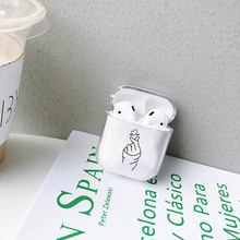 LAUGH LIFE Hard Earphone Case For Apple Airpods Cover Letters  Cute Transparent Clear Luxury