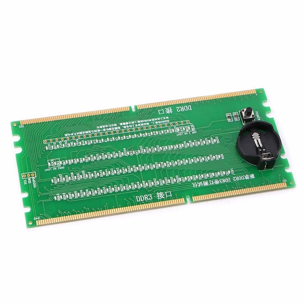 DDR2 y DDR3 2 en 1 iluminado probador con luz de escritorio placa de circuitos integrados
