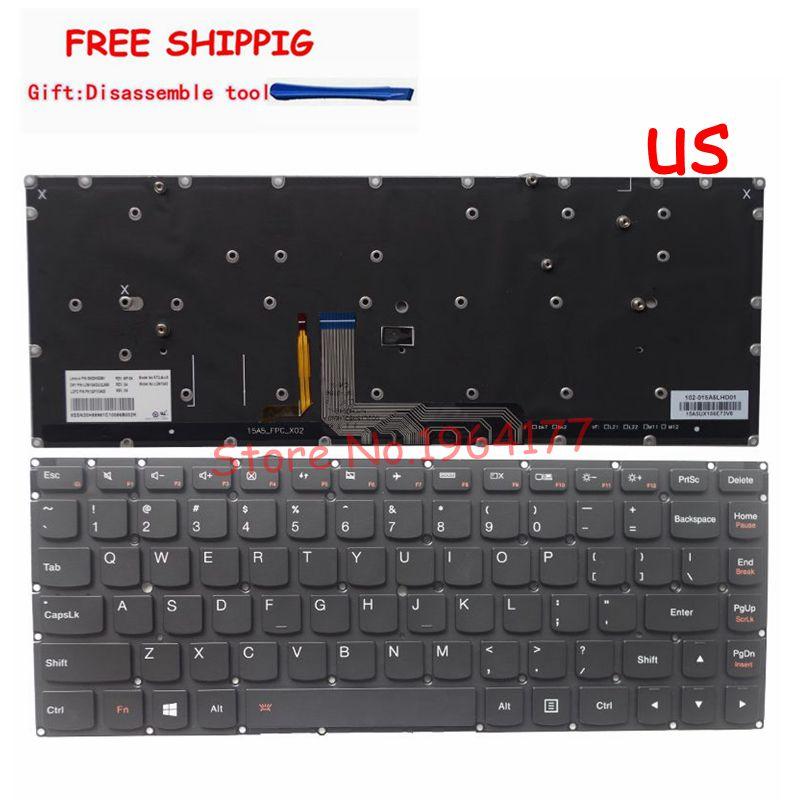 New For Lenovo Yoga 4 Pro Yoga 900-13ISK 900-13ISK2 Keyboard US Backlit Laptop English Keyboard Backlight PK130YV2