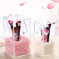 Makeup Organizer Storage Box Acrylic Makeup Organizer Cosmetic Organizer Makeup Storage Drawers Cosmetic Brush Bucket