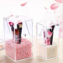 Makeup Organizer Storage Box Acrylic Cosmetic Drawers Brush Bucket