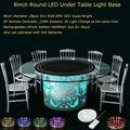 60 pçs/lote Recarregável RF Remote Controlled Multicolors LED RGB Sob A Mesa de Iluminação Mesa de Luz Para A Festa de Casamento Evento