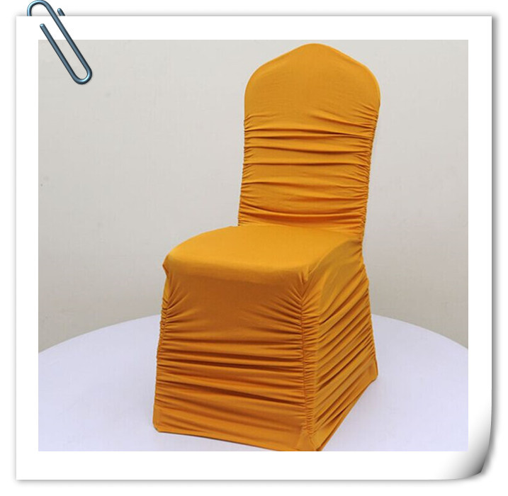 Big Discount 100pcslot Ruffle Chair Cover Spandex Lycra