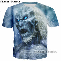 PLstar Cosmos Newest Design Game Of Thrones The White Walkers Ghost 3D Printed Men T Shirt