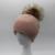 Alta Qualidade Mulheres Inverno Cashmere Chapéus 15 cm Real Chapéu Gorro de Pele De Guaxinim pompons Pele Bola Cap