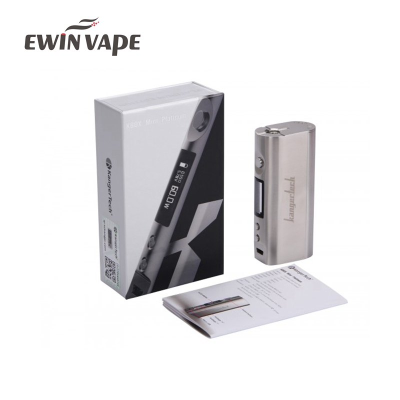 E Cigarette Kanger KBOX Mini Platinum MOD 60W TC box mod vape VS Wismec RX2/3 Joyetech Cuboid 150W Fit for Smok Micro tfv4 vapor