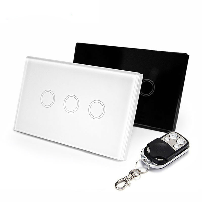 EWelink EE.UU. Standard 3 Gang Interruptores de Luz de Control Remoto Inalámbric