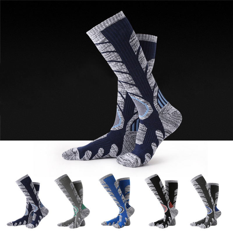 XC Winter Warm Men Women Thermal Long Ski Socks Thicker Cotton Outdoor Sports Snowboard Climbing Camping Hiking Snow Soft Socks