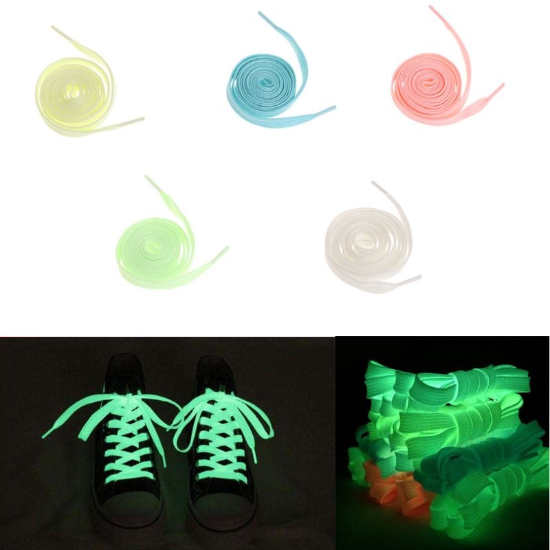 120cm Fashion Sport Luminous Shoelace Toys Shoe Accessories Glow In The Dark Shoelace Night Running Gift
