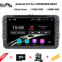 Android 8 0 Auto Radio Car DVD Player For Volkswagen VW GOLF PASSAT B6 JETTA POLO