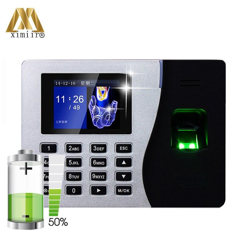 Linux System Biometric Fingerprint Time Attendance ZK ST300 Time Recorder Fingerprint Time Clock With Built-in Battery K14