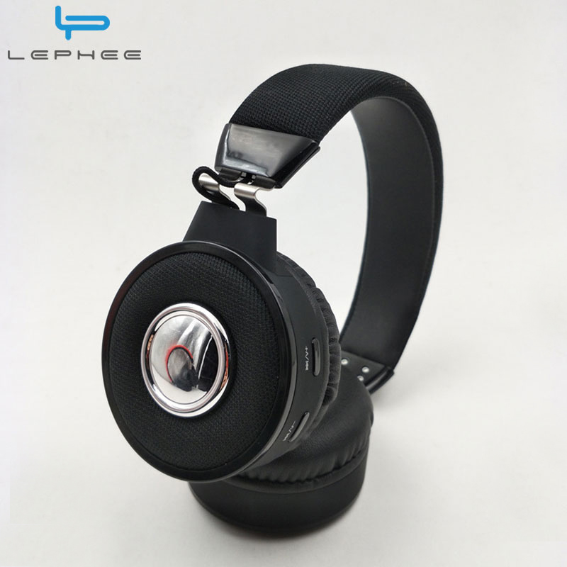LEPHEE Wireless Headphone Bluetooth Headphones BT018 MP3 Headset Microphone Support TF Card+Mic+Aux Cable+FM Earphone for Xiaomi 2017 new high end wireless bluetooth headphone stereo headset for iphone samsung xiaomi fm radio tf card mic aux mp3 lcd display