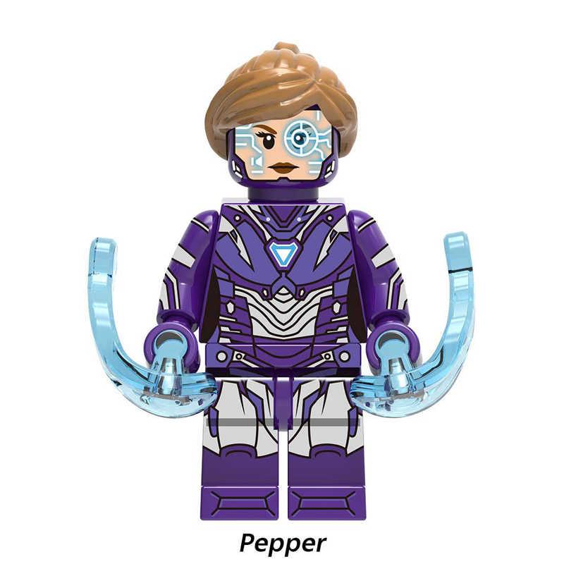 Jedna sprzedaż klocki Super Heroes kapitan Marvel pieprz Tony Stark Iron Man Stan Model najlepszy zabawki prezentowe dla dzieci XH1130