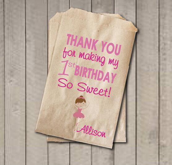 Enjoyable Us 15 75 17 Off Personalized Ballerina Girl Baby Shower Candy Buffet Treats Bar Birthday Ts Favor Bags Bakery Cookie Packets In Gift Bags Download Free Architecture Designs Intelgarnamadebymaigaardcom