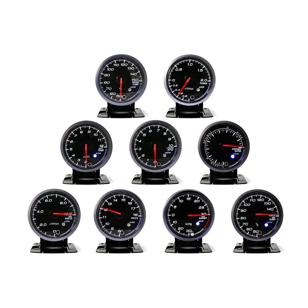 CNSPEED 60 MM Schwarz Gesicht Boost turbo, Wasser/öltemperatur, ölpresse, Voltmeter, Air/kraftstoff/abgas temp, drehzahlmesser