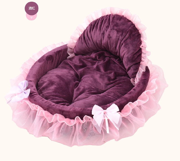 2019 New Cute Lace Princess Dog Basket Bed Cat Puppy Pet Beds Dream Nest Kennel Luxury Sofa