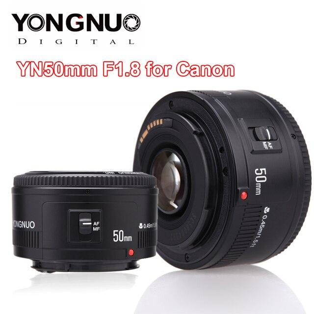YONGNUO YN50mm YN50 F1.8 عدسة الكاميرا EF 50 مللي متر AF MF العدسات لكانون المتمردين T6 EOS 700D 750D 800D 5D مارك II IV 10D 1300D Yongnuo