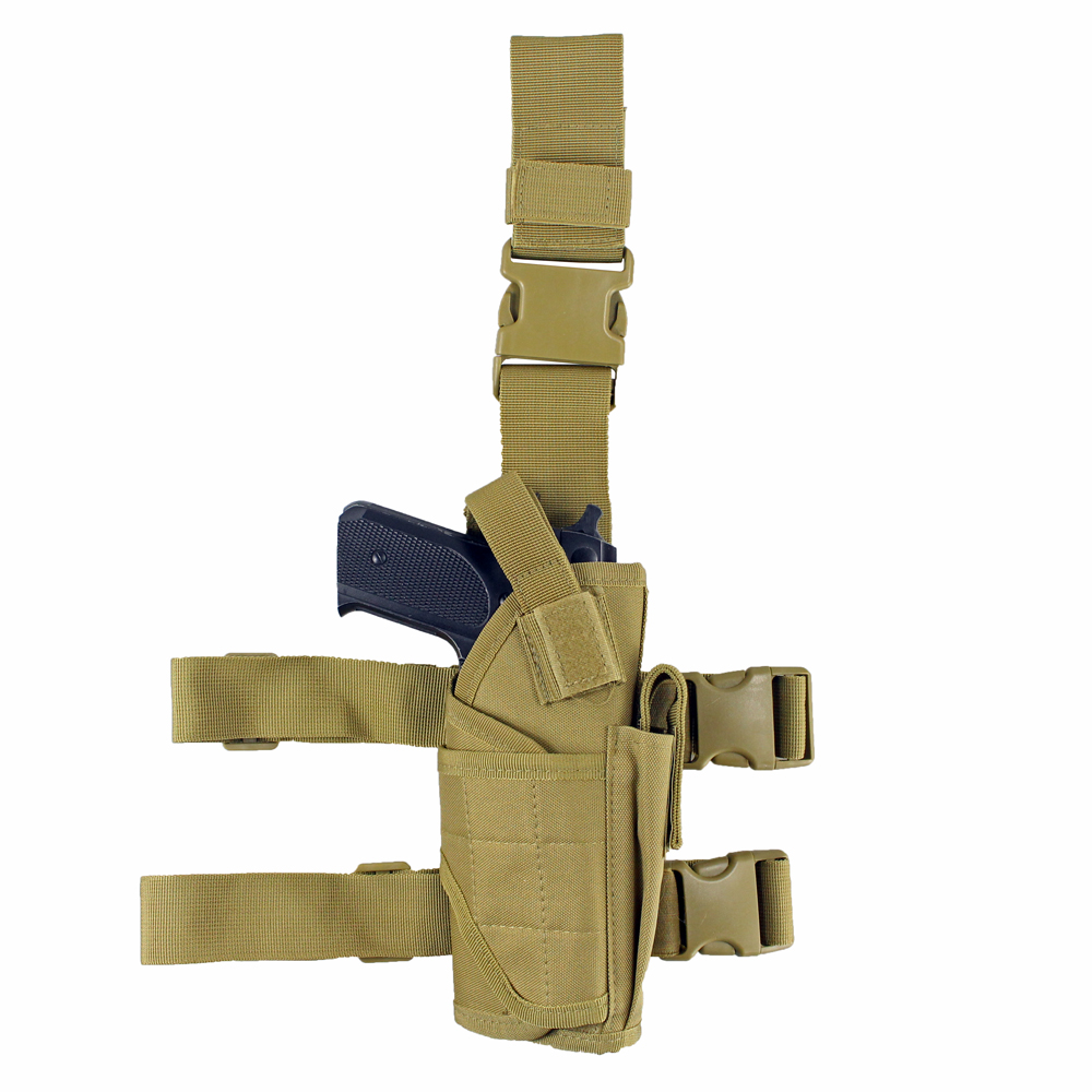 Image 5 - Tactical Universal Drop Leg Holster gun holster bag Adjustable Thigh Pistol Gun Holster for Right Handed-in Holsters from Sports & Entertainment