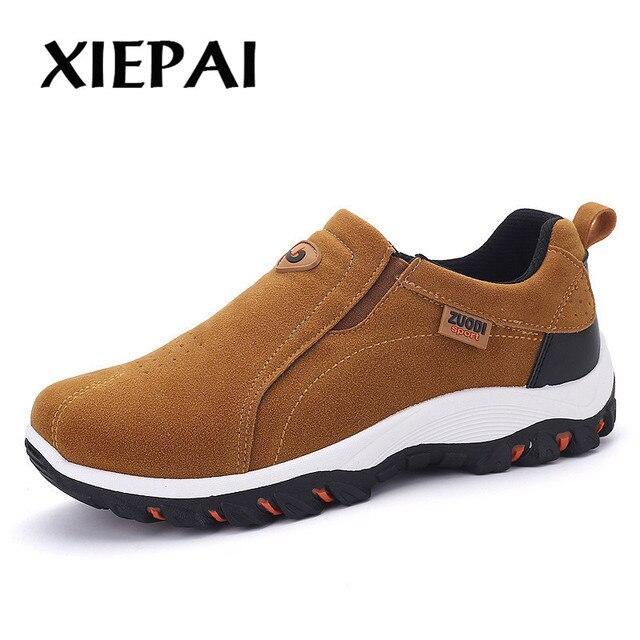 2019 2018 Moda Confortáveis Sapatos Casuais Mocassins Homens Sapatos de Qualidade Sapatos De Couro de Divisão Dos Homens Flats Sapatos Venda Quente