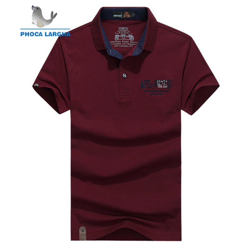 2019 Summer Casual Mens   Polo   Shirt Short Sleeve For Men Turn-down Cotton   Polos   Shirts Camisa Masculina Letter Print Jeep 55