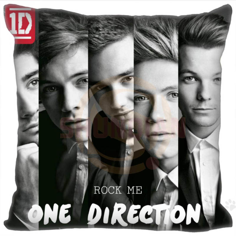 Hot Sale New Custom 1D one direction Square Pillowcases zipper Custom Pillow Case best gift for you