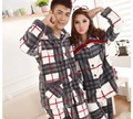 2013 winter thickening fertilizer increased flannel grid lovers pajamas coral fleece leisurewear suit men and women