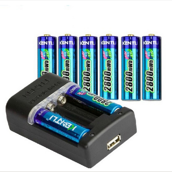 8 pcs 1.5v AA rechargeable Li-polymer li-ion polymer lithium battery + Intelligent Fast Charger OWN IT AND SAVE YOUR MONEY/TIME 3pcs battery charger 7 4v rechargeable li ion battery for olympus e300 e500 e3 e5 e520 e510
