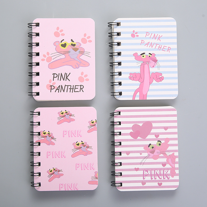 Newest Cute Pink Naughty Leopard Notebooks Diary Stationery School Supplies Student Week Planner Kawaii Spiral Notepads Memo Pad