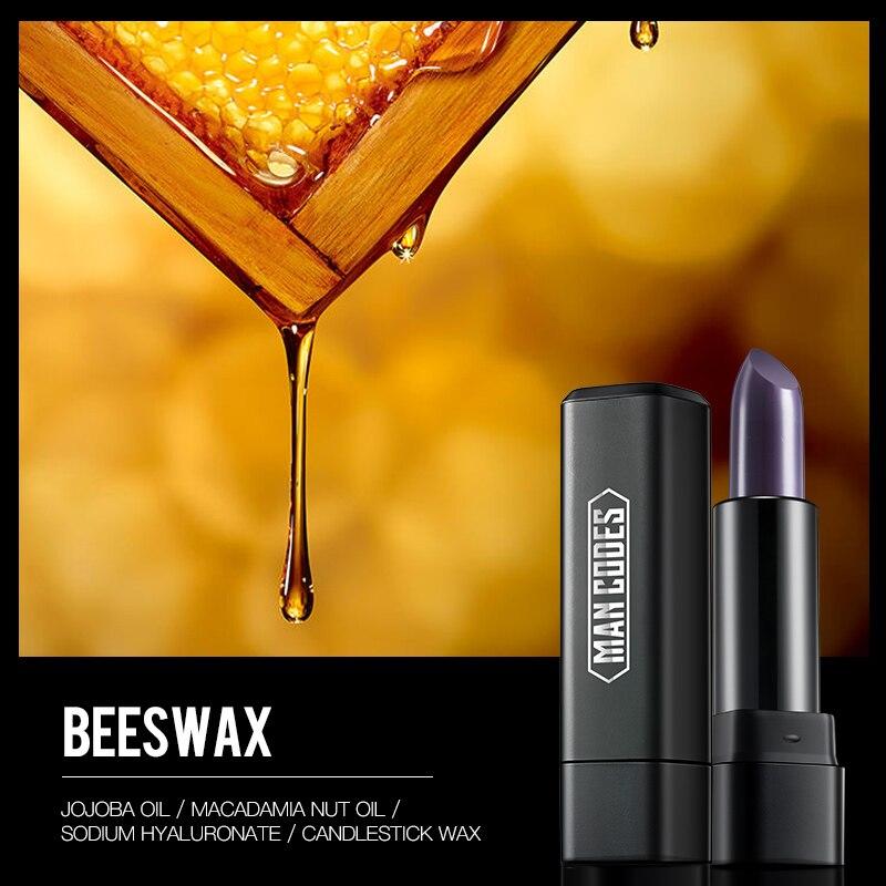 JOYCODES hombres Matte lápiz labial hidratante labial miel para hombres reparación labios cuidado CAMBIO DE Color Enhancer Lip Balm maquillaje belleza