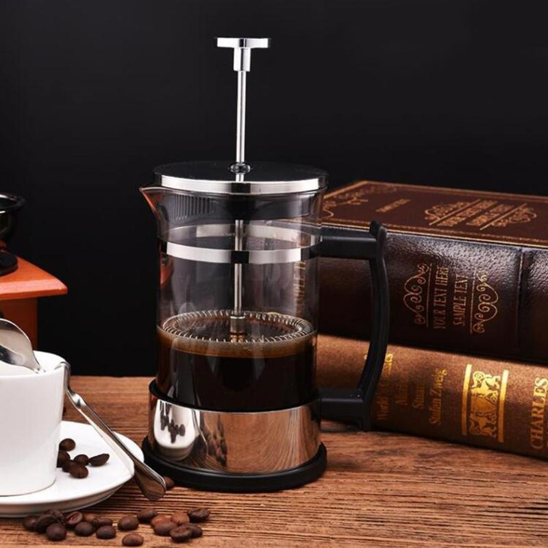 Household Coffee Maker Stainless Steel French Press Coffee Pot Filter 304 Pressure Moka Coffee Percolator Tool Teapot Brewer