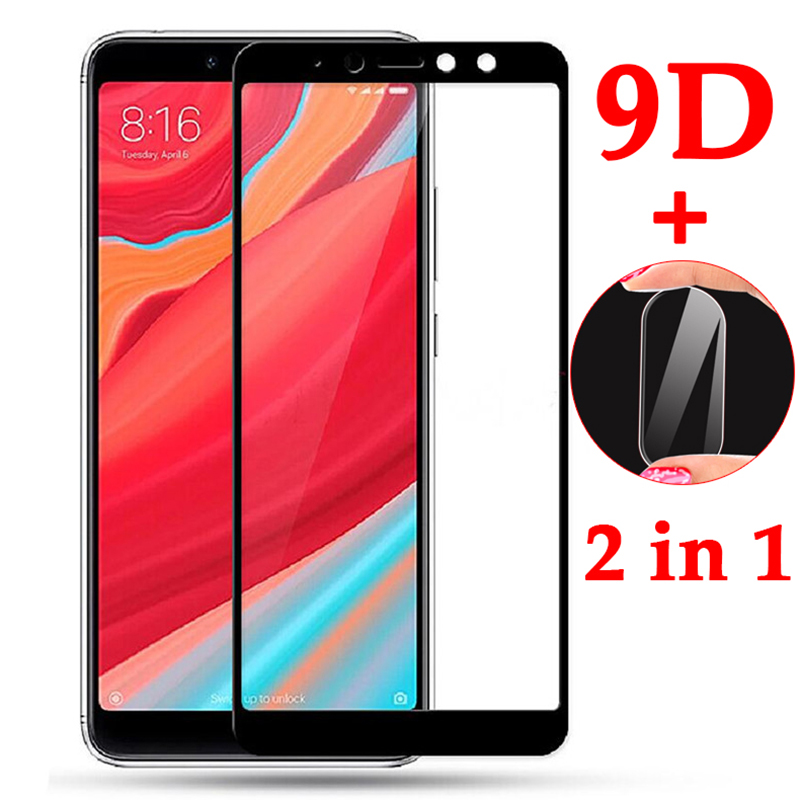 2 In 1 9D Protective Glass For Xiaomi Redmi S2 Screen Camera Lens Protector On The For Xiaomi Redmi S 2 Redmis2 Tempered Glasses