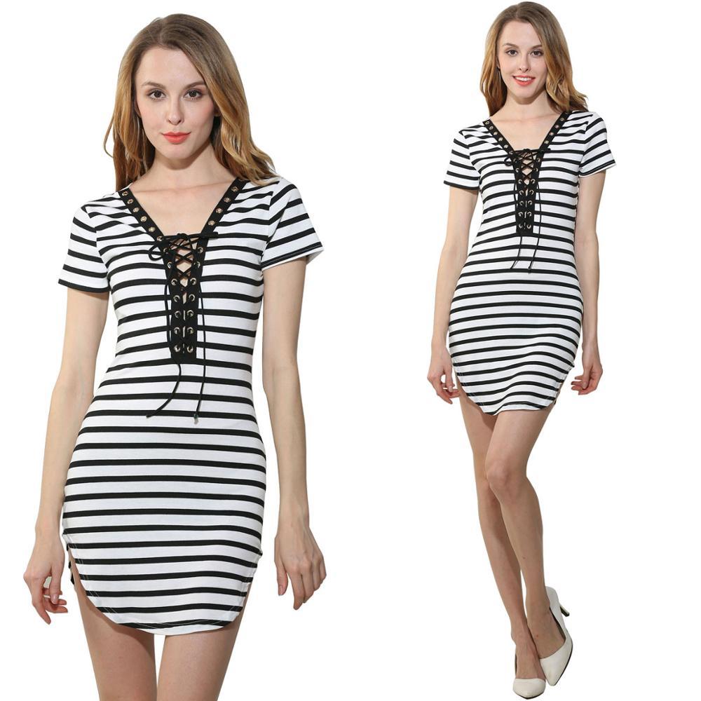 Black and white striped bodycon dress games maxx