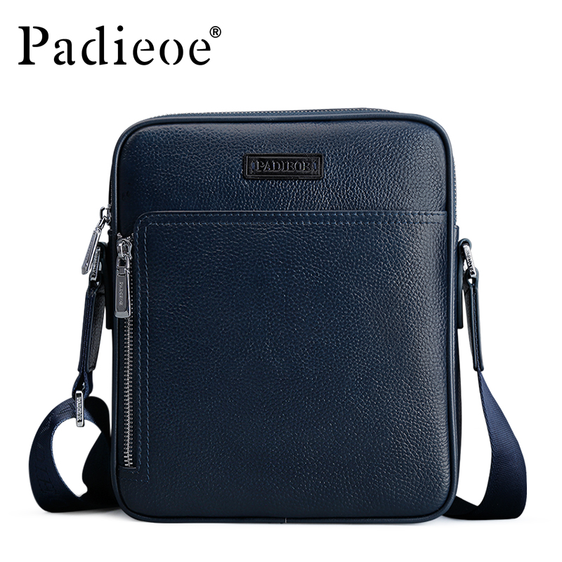 Padieoe 2017 New Arrival Men Shoulder Bag Real Leather Cowhide Handbag Famous Brand Mens Messenger Bags Fashion Crossbody Bags padieoe new arrival luxury genuine cow leather men handbag business man fashion messenger bag durable shoulder crossbody bags