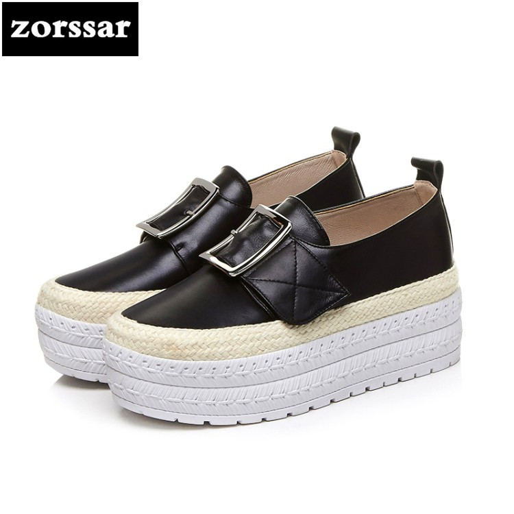 {Zorssar} 2018 women flats shoes platform sneakers shoes Genuine Leather casual shoes lace up flat Loafers women Creepers shoes instantarts casual teen girls flats shoes appaloosa horse flower pattern women lace up sneakers fashion comfort mesh flat shoes