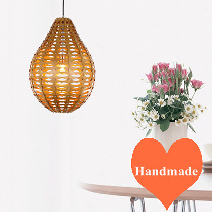 Classiacal rural quaint Ply-Wood chips Chandelier handmade indoor E27 LED hang lamp for cafe&bar&porch&stairs&corridor BT278