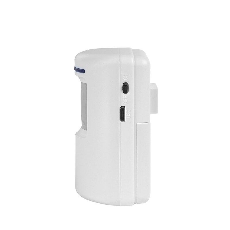 Drahtlose PIR Infrarot-bewegungssensor Detektor Alarm + Receiver Türklingel 90dB Anti-Shop Alarmanlagen Sicherheits