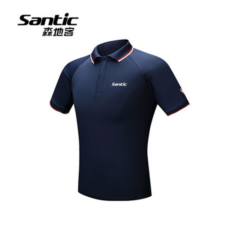 SANTIC Cycling Jerseys Mens Polo Shirt Summer Short Sleeve Tops Male Breathable  T Shirt Lapels Whorl ef5ce3e53