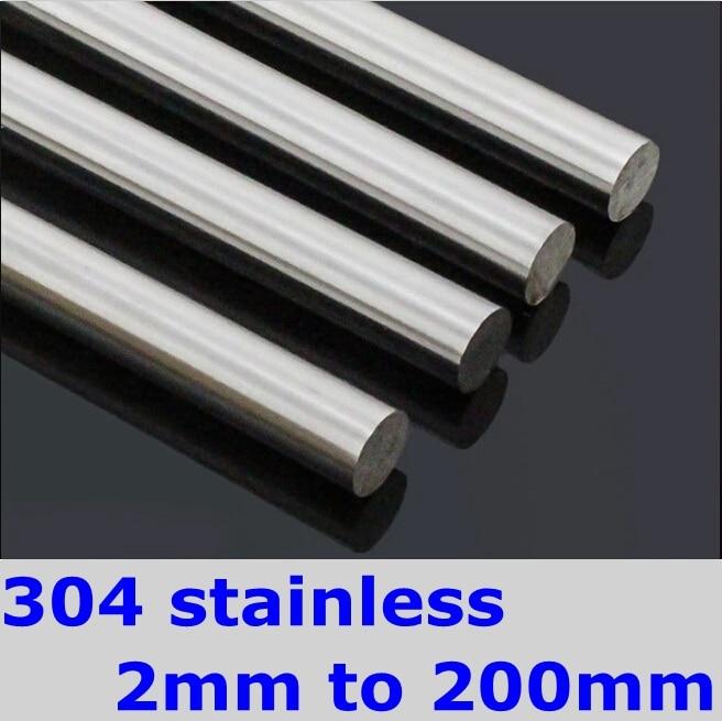 8mm SS304 Stainless Steel Round Bar DIY Hardware Round Rods Pole