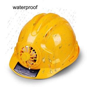 Image 2 - Güneş elektrikli fan Kask Açık Çalışma Güvenliği Baret Inşaat Işyeri ABS malzeme koruyucu bone tarafından Desteklenmektedir GÜNEŞ PANELI