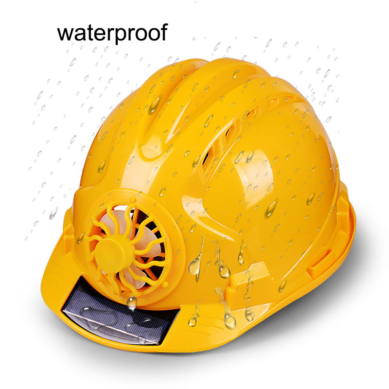 Image 2 - Solar Power Fan Helmet Outdoor Working Safety Hard Hat Construction Workplace ABS material Protective Cap Powered by Solar Panel-in Safety Helmet from Security & Protection