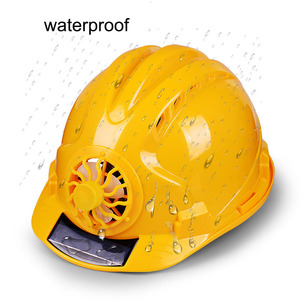 Image 2 - Solar Power Fan Helmet Outdoor Working Safety Hard Hat Construction Workplace ABS material Protective Cap Powered by Solar Panel