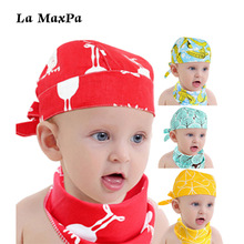2018 New Fashion Newborn Infant Pirate  Hat+Triangle Baby Bib Reusable Washable Set Hat Saliva Towel Two-piece