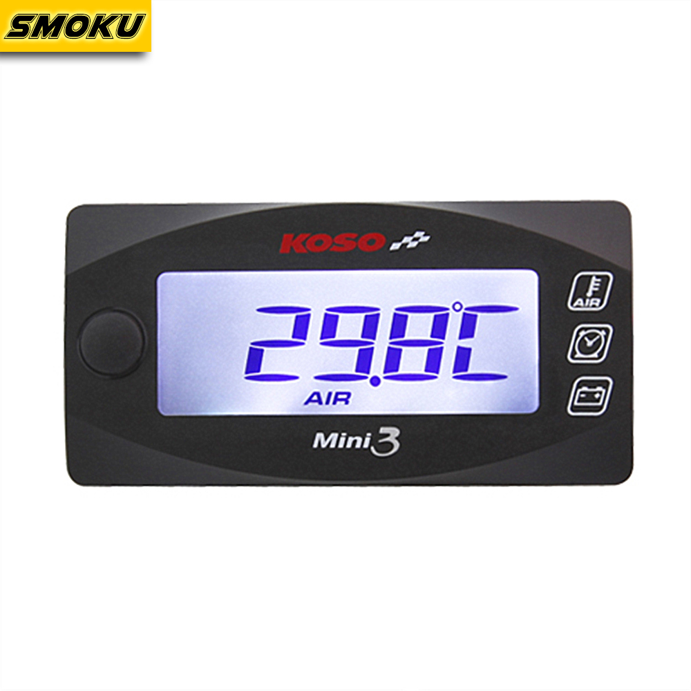 KOSO Mini Style Instruction LED Display Meter KOSO MINI 3 (Air Temp+Time+Volt Meter) for Racing and Scooter Bike Скульптура