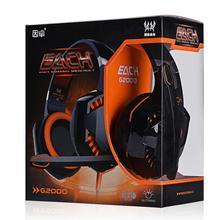 Nueva CADA G2000 de Deep Bass Auriculares Estéreo Rodeado Over-Ear LOL Gaming Headset Diadema Auricular con la Luz para PC juego