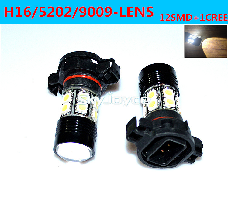 Freeshipping 2x White H16 Led Fog Lamp Bulb 5202 9009 Led Auto Drl