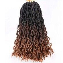 Ombre Faux Locs Вьющиеся косички Косички Eunice Hair 20 ' Длинные мягкие дреды Наращивание волос