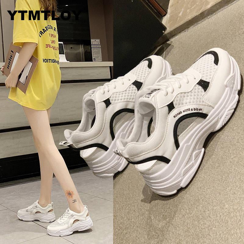 Women Sneakers 2019 Fashion Casual Shoes Woman Comfortable Breathable White Flats Female Chaussure Femme  Platform Sneakers