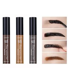 3 Colors Natural Long Lasting Waterproof Peel Off Henna Eyebrow Gel Brown Color Make Up Eye Brow Tattoo Tint Eyebrows Enhancer