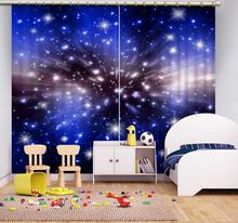 Luxury Blackout 3D Window Curtains For Living Room Bedroom Customized size blue curtains star curtain morden bookself 3d curtains luxury blackout curtain 3d window curtains for living room bedroom customized size